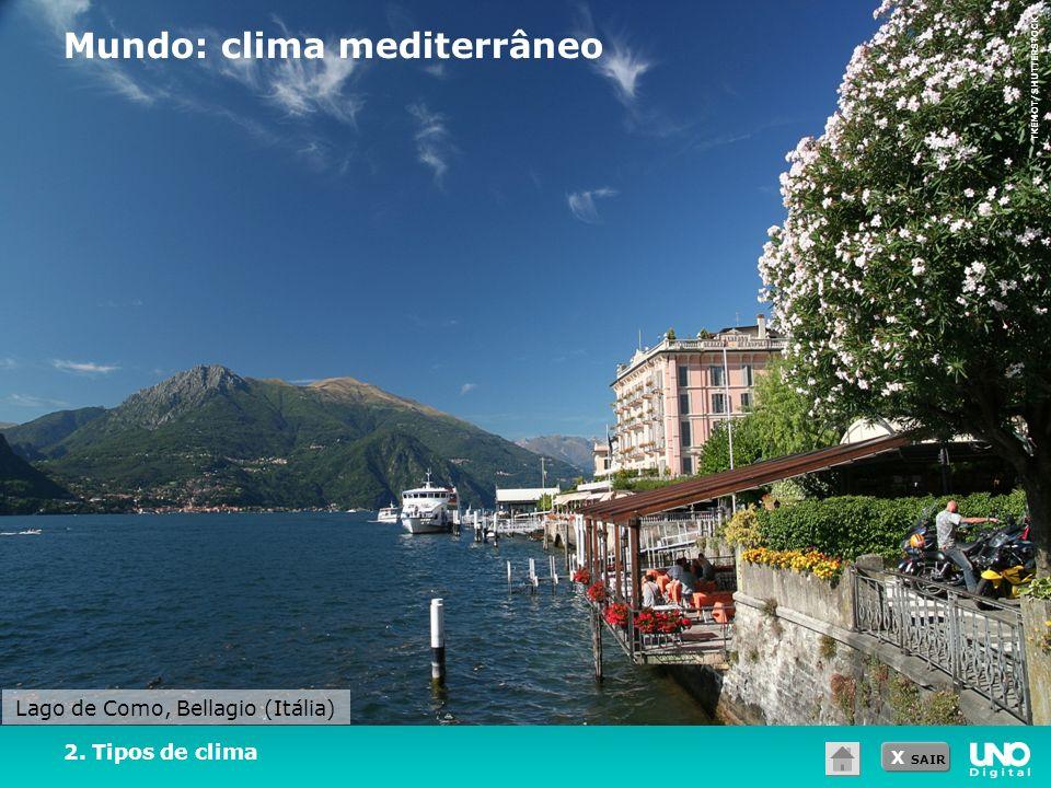 Mundo: clima mediterrâneo