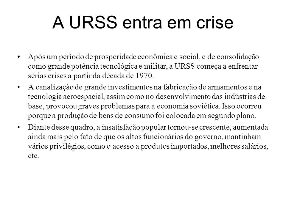 A URSS entra em crise