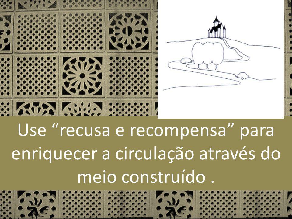 Use recusa e recompensa para enriquecer a circulação através do meio construído .