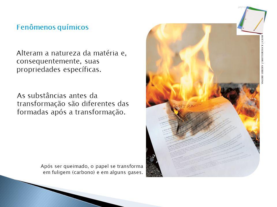 Após ser queimado, o papel se transforma em fuligem (carbono) e em alguns gases.