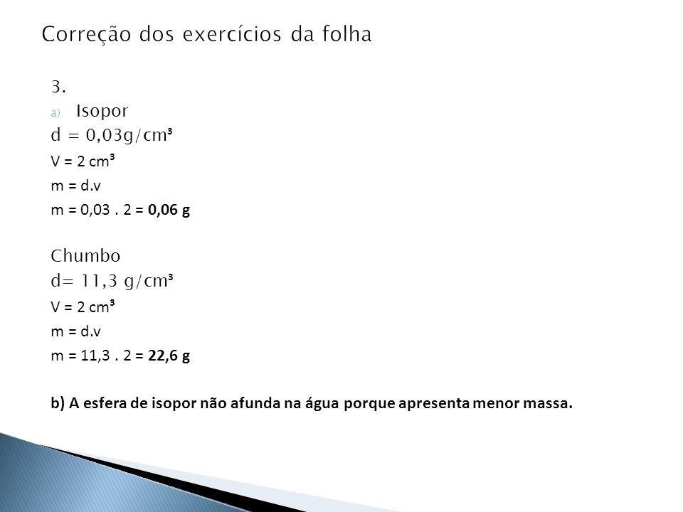 Correção dos exercícios da folha