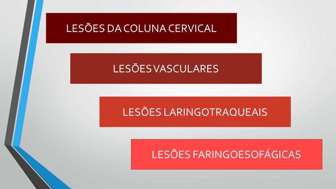 LESÕES DA COLUNA CERVICAL
