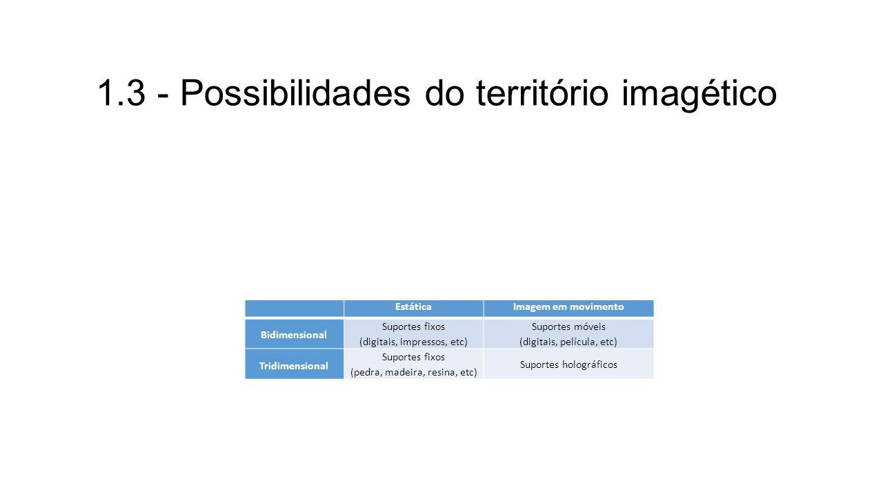 1.3 - Possibilidades do território imagético