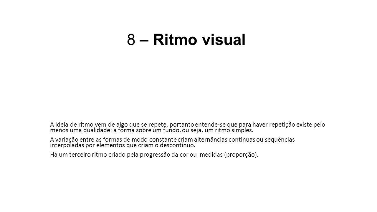 8 – Ritmo visual