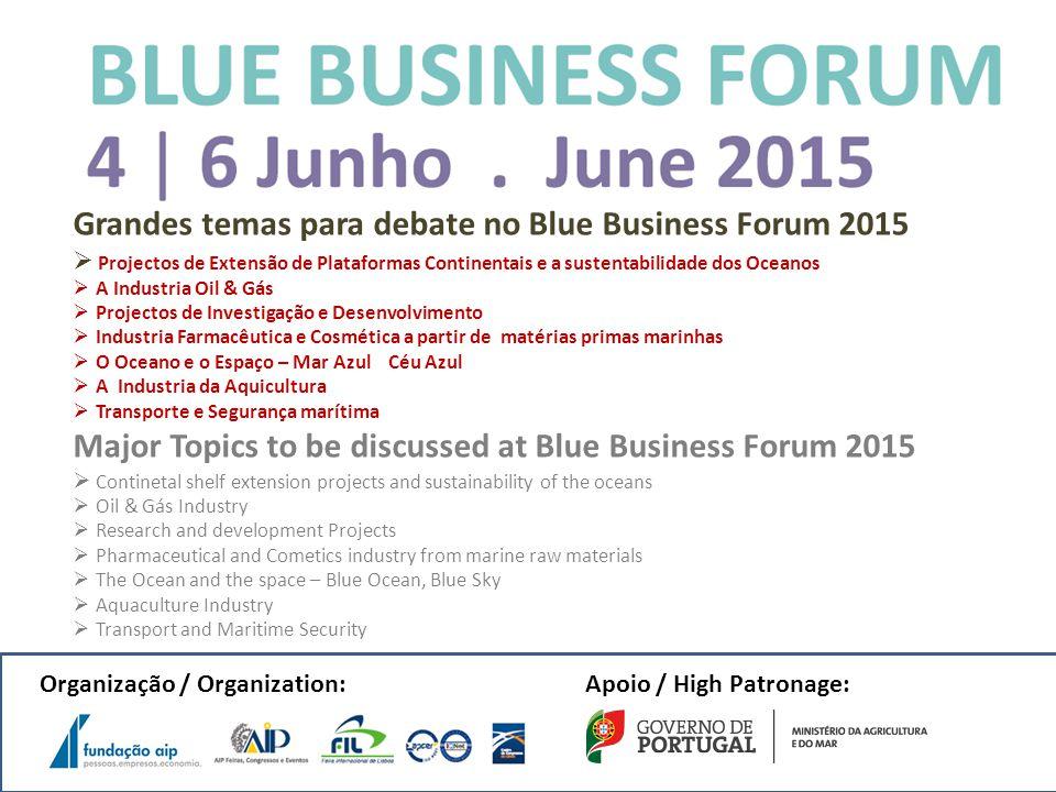 Grandes temas para debate no Blue Business Forum 2015