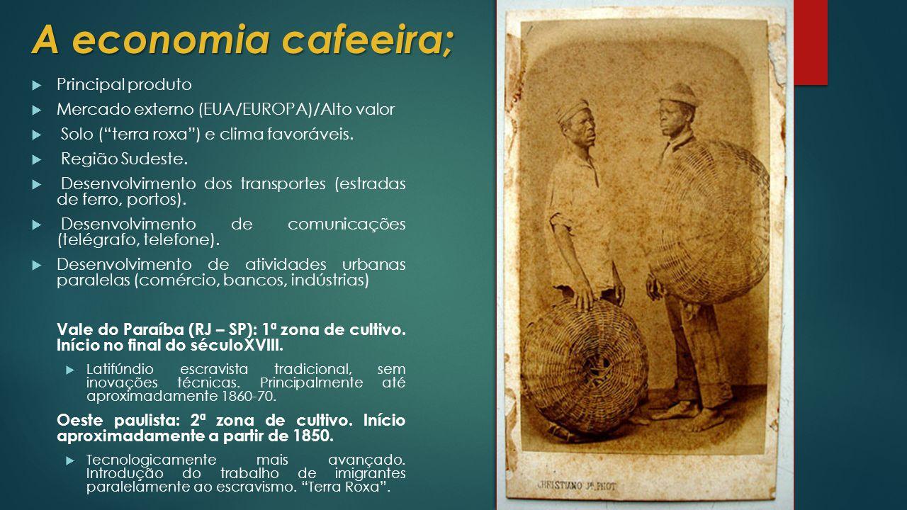 A economia cafeeira; Principal produto