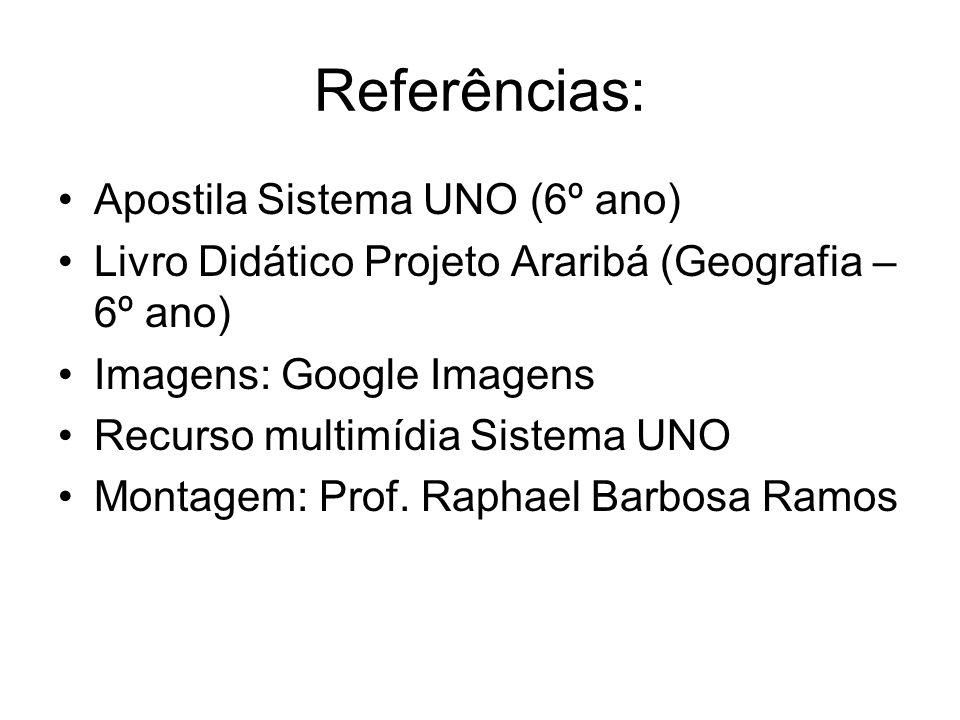 Referências: Apostila Sistema UNO (6º ano)