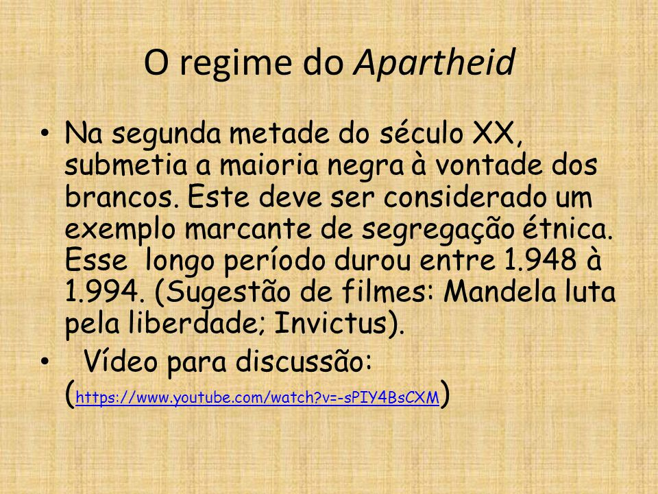 O regime do Apartheid