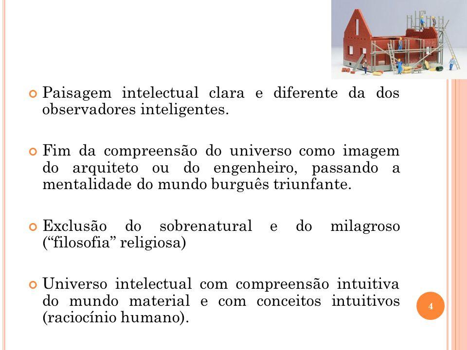 Paisagem intelectual clara e diferente da dos observadores inteligentes.