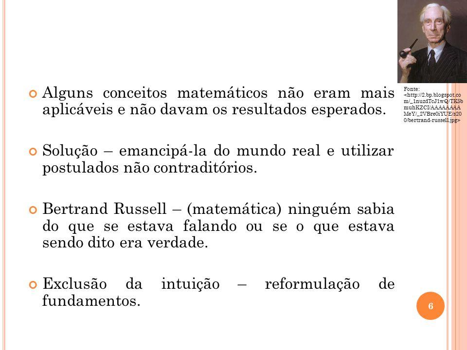 Exclusão da intuição – reformulação de fundamentos.