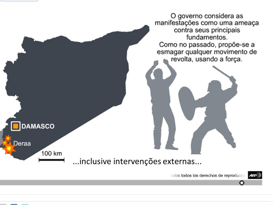 ...inclusive intervenções externas...