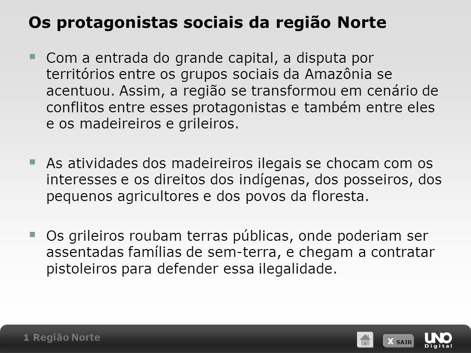 Os protagonistas sociais da região Norte