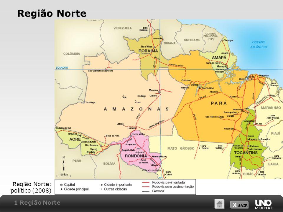 Região Norte Região Norte: político (2008) 1 Região Norte