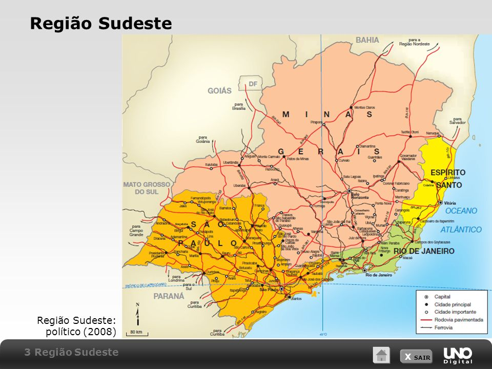 Região Sudeste Região Sudeste: político (2008) 3 Região Sudeste