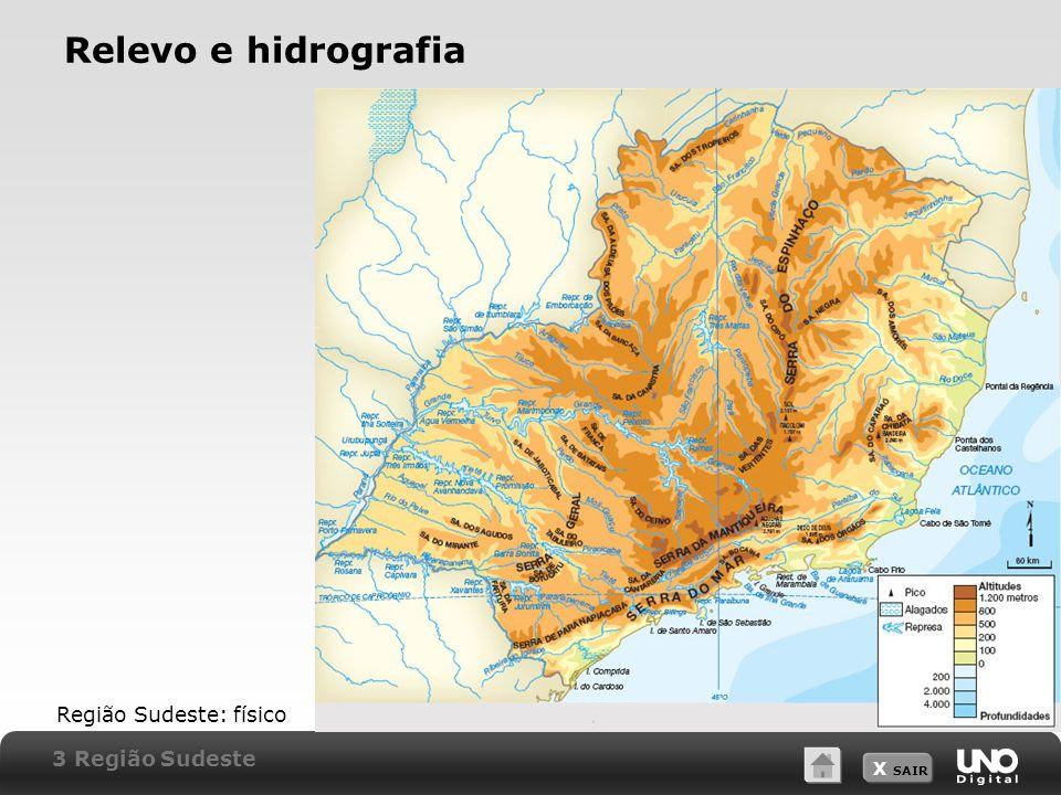Relevo e hidrografia Região Sudeste: físico 3 Região Sudeste