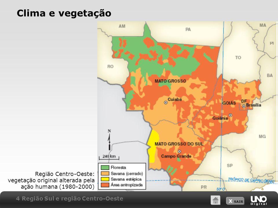 Clima e vegetação Professor: a escala indicada se refere ao mapa impresso no módulo.