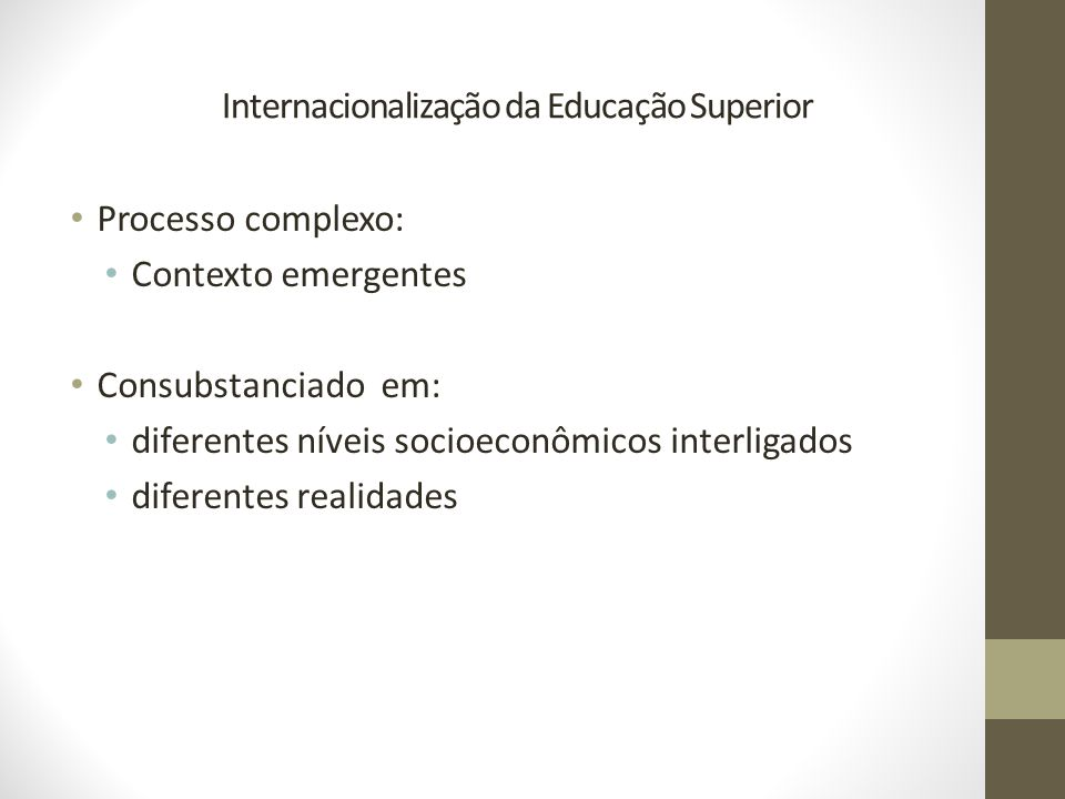 Internacionalização da Educação Superior