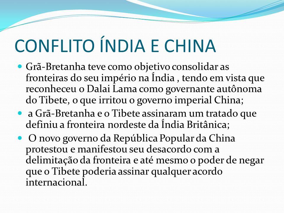 CONFLITO ÍNDIA E CHINA