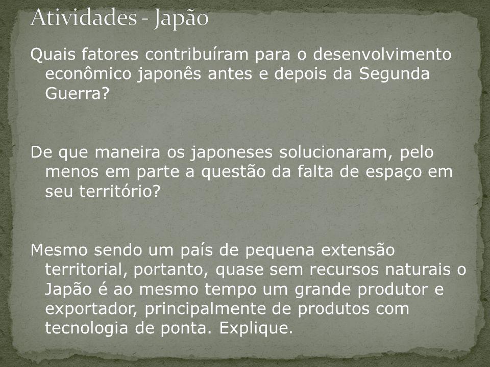 Atividades - Japão