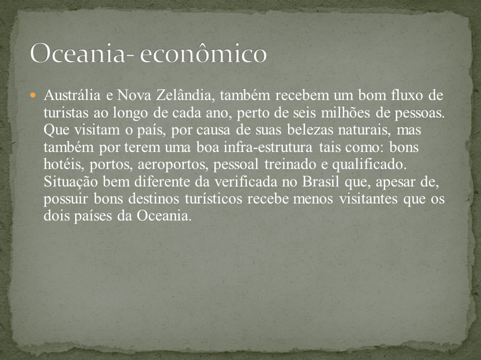 Oceania- econômico