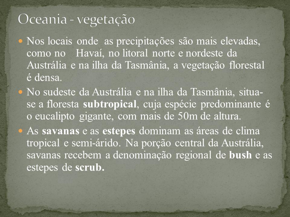 Oceania - vegetação