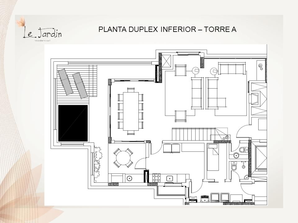 PLANTA DUPLEX INFERIOR – TORRE A