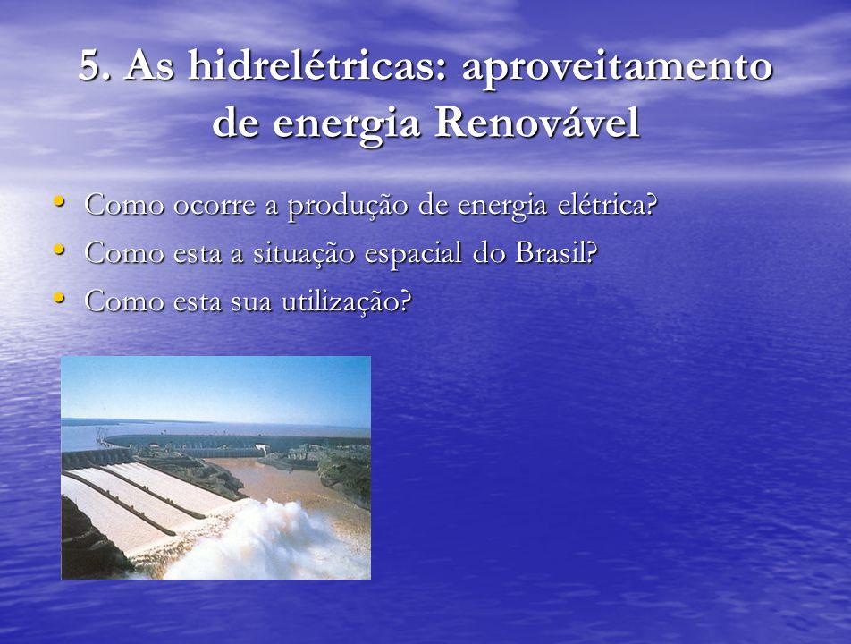 5. As hidrelétricas: aproveitamento de energia Renovável