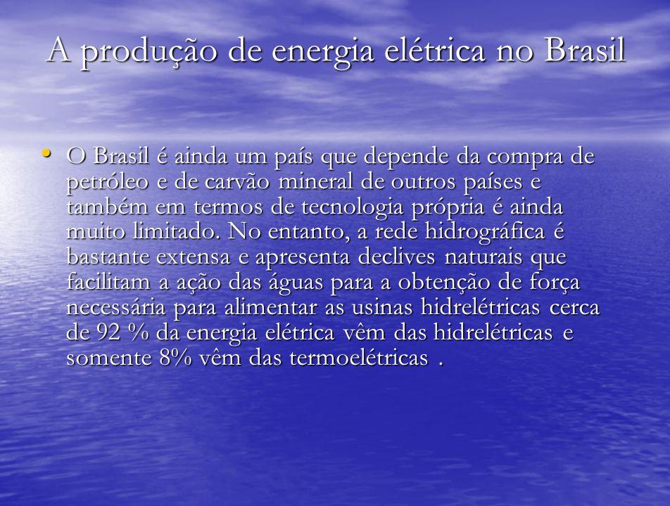 A produção de energia elétrica no Brasil