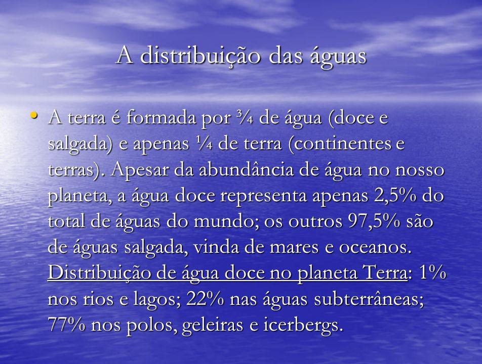 A distribuição das águas