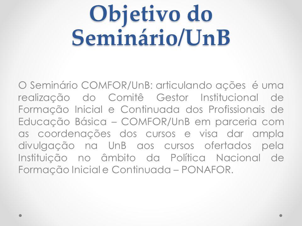 Objetivo do Seminário/UnB