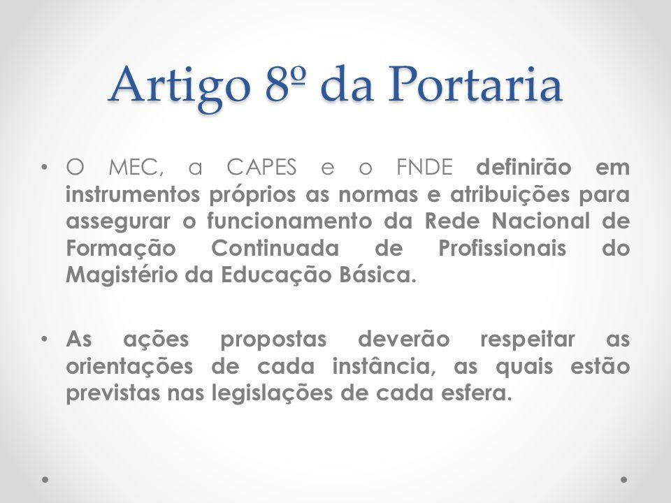 Artigo 8º da Portaria