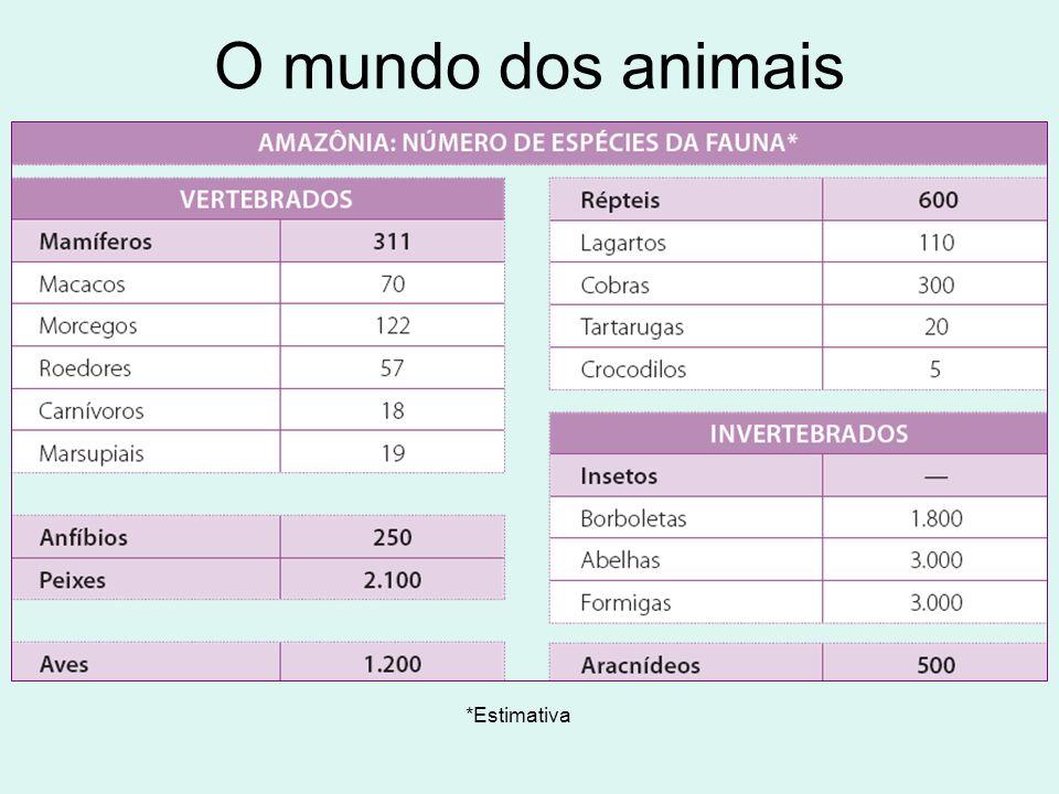 O mundo dos animais *Estimativa