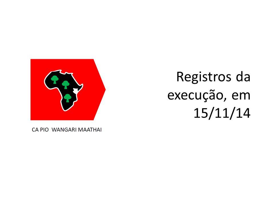 Registros da execução, em 15/11/14