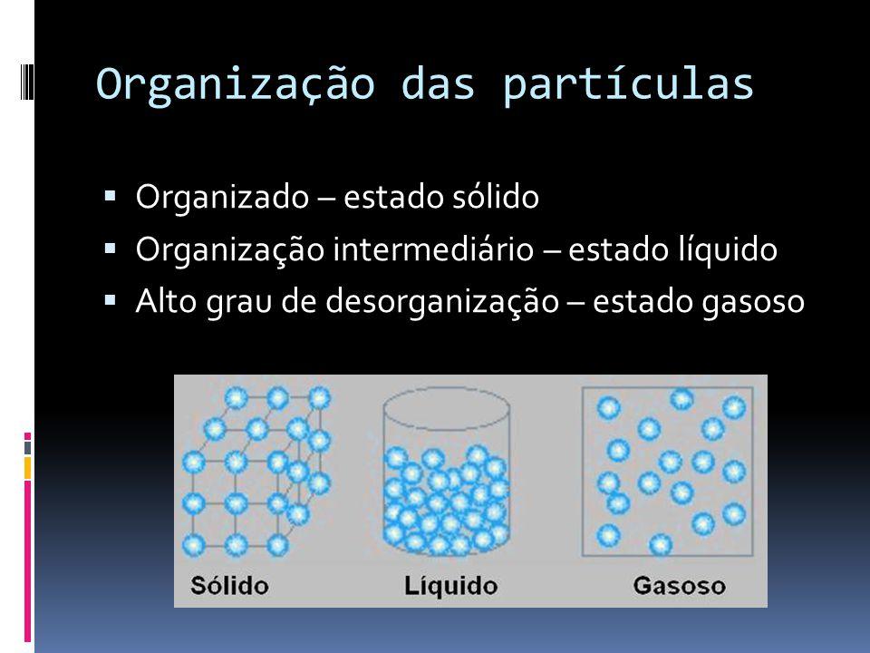Organização das partículas