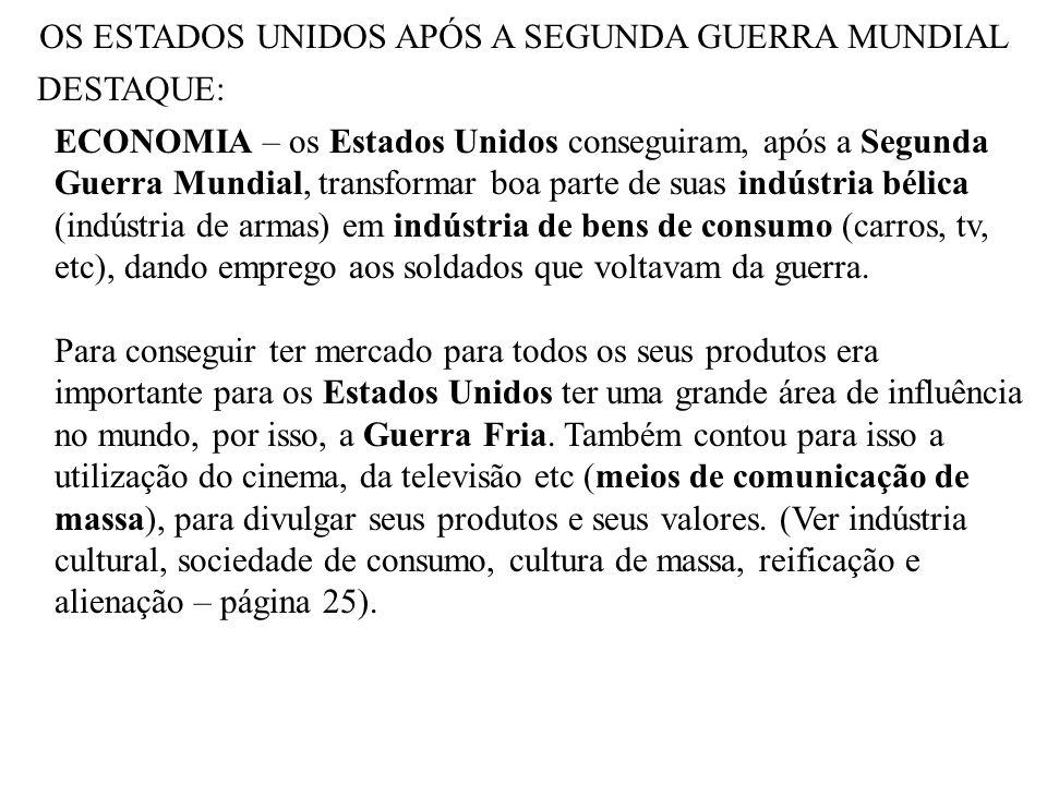 OS ESTADOS UNIDOS APÓS A SEGUNDA GUERRA MUNDIAL