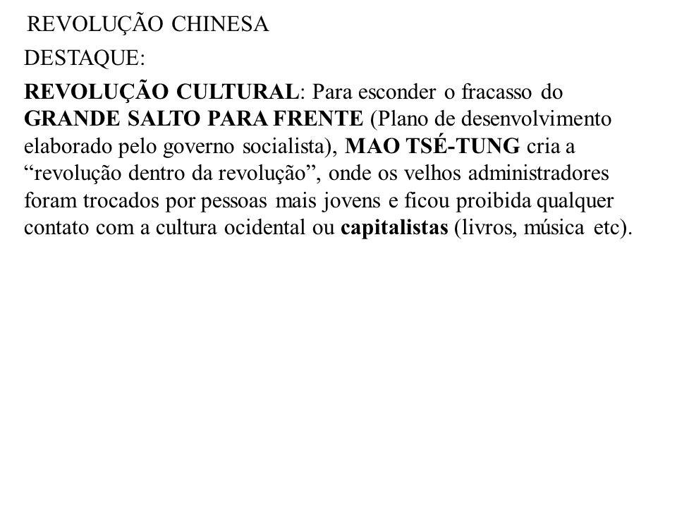 REVOLUÇÃO CHINESA DESTAQUE: