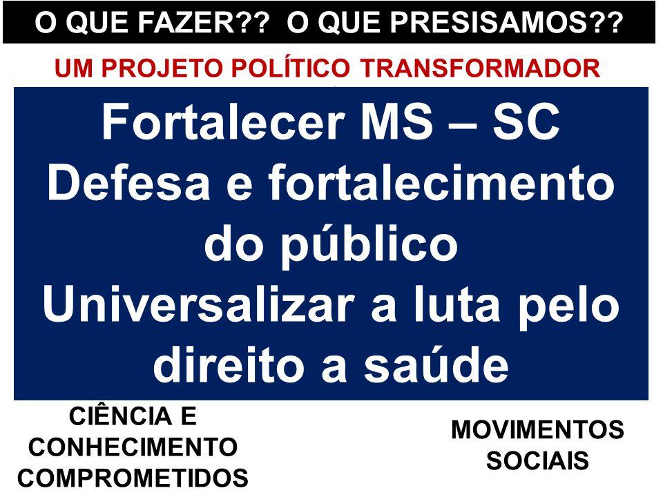 Fortalecer MS – SC Defesa e fortalecimento do público