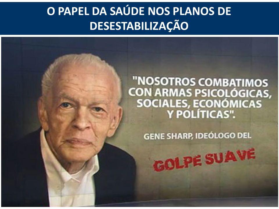 O PAPEL DA SAÚDE NOS PLANOS DE DESESTABILIZAÇÃO