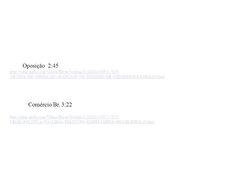 Oposição 2:45 Comércio Br. 3:22