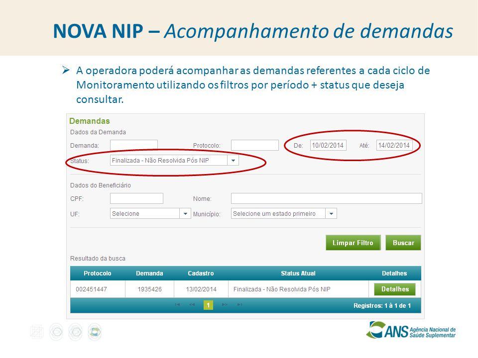 NOVA NIP – Acompanhamento de demandas