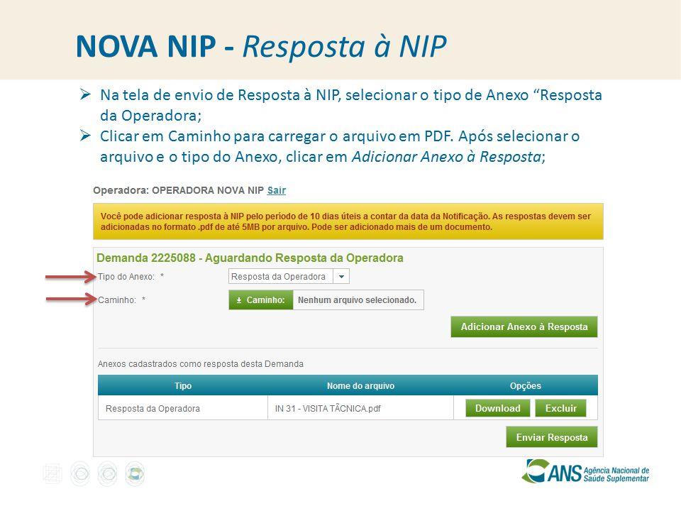 NOVA NIP - Resposta à NIP