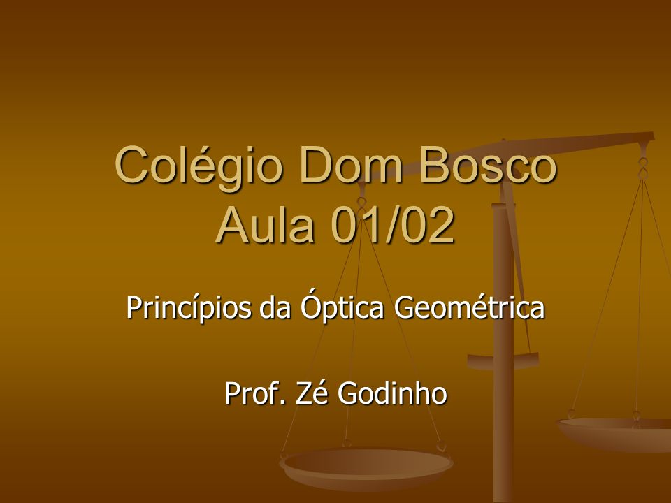 Colégio Dom Bosco Aula 01/02