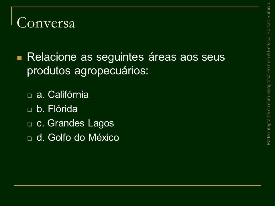 Conversa Relacione as seguintes áreas aos seus produtos agropecuários: