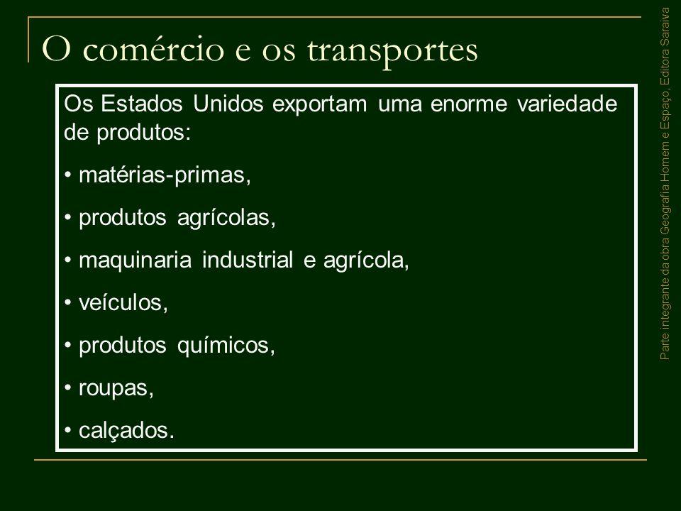 O comércio e os transportes