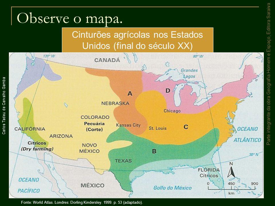 Cinturões agrícolas nos Estados Unidos (final do século XX)