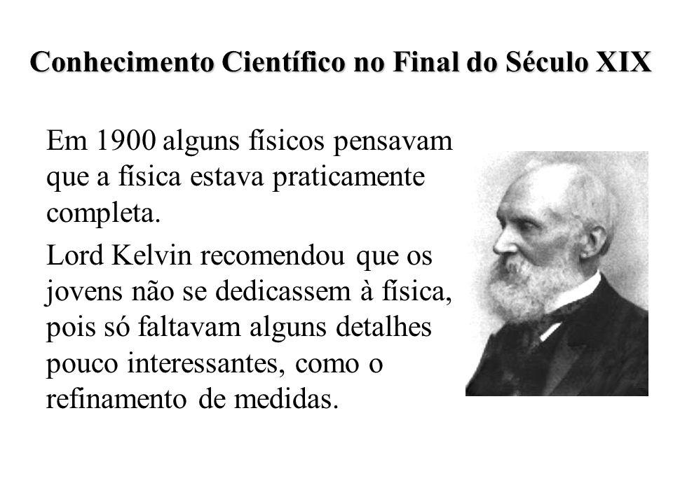Conhecimento Científico no Final do Século XIX