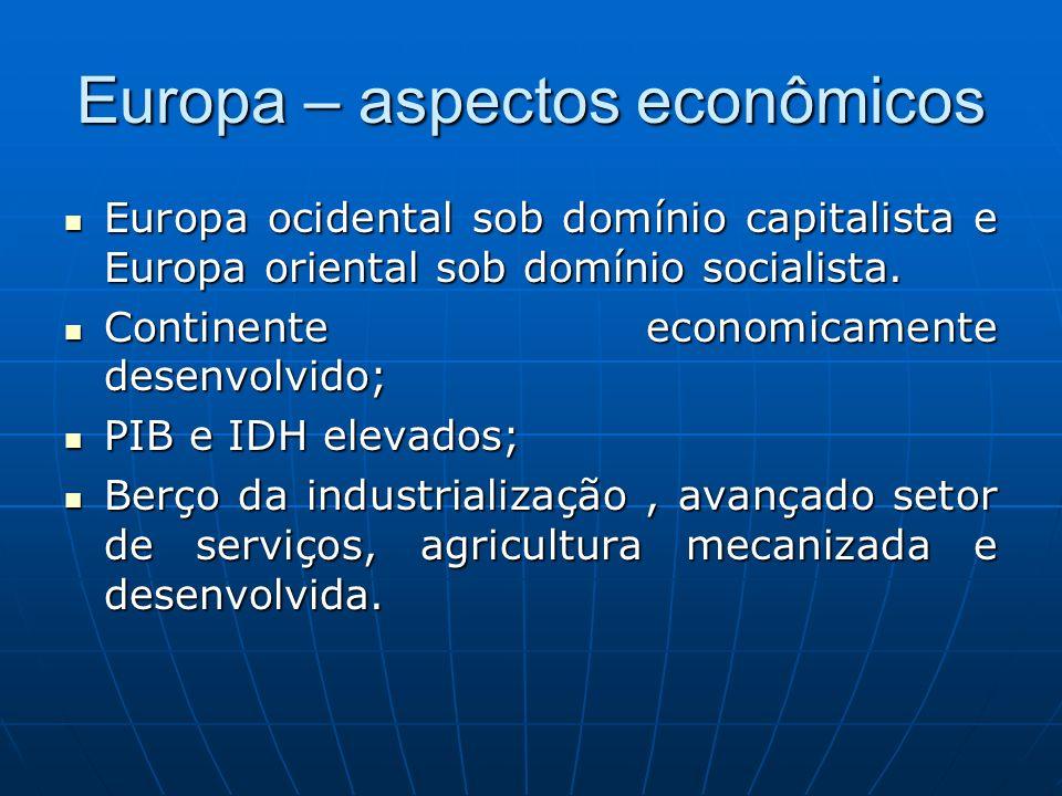Europa – aspectos econômicos