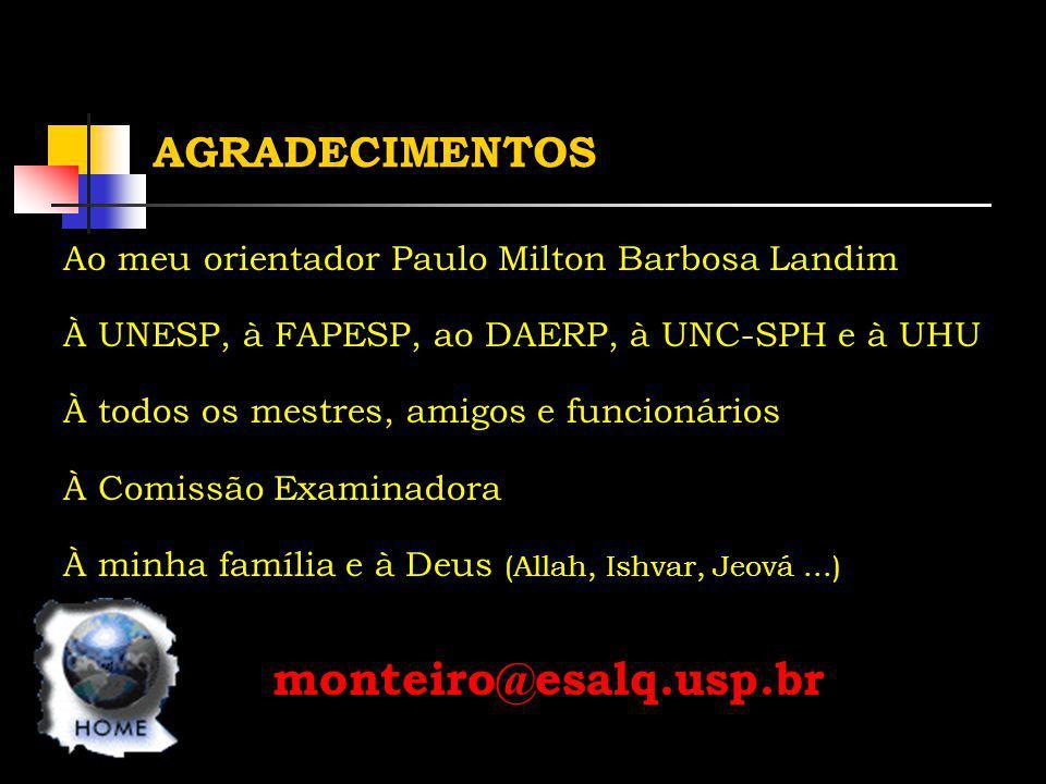 monteiro@esalq.usp.br AGRADECIMENTOS