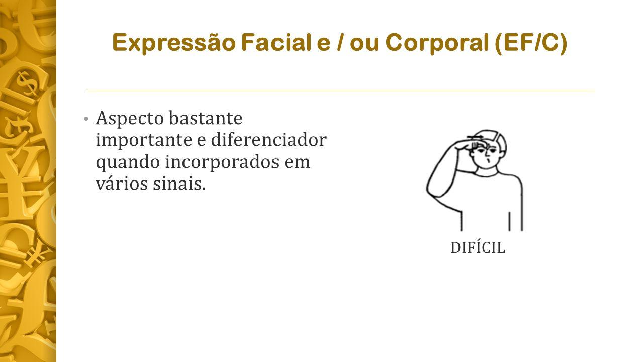 Expressão Facial e / ou Corporal (EF/C)