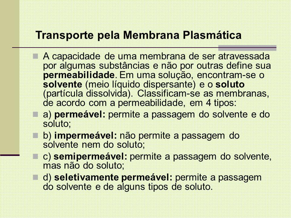 Transporte pela Membrana Plasmática